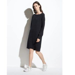 VINCE Ribbed Wool-Cashmere Dress grey